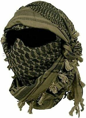 $14.99 • Buy Scarf Face Mask Cover Black And OD Olive Drab Military Green Shemagh Army Neck