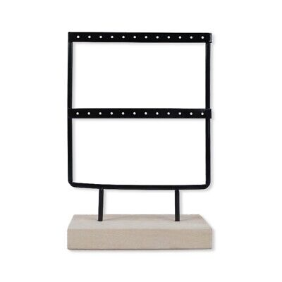 24 Holes Wooden Earrings Jewelry Organizer Display Holder Stand Metal Jewel E5Y7 • 8.99£