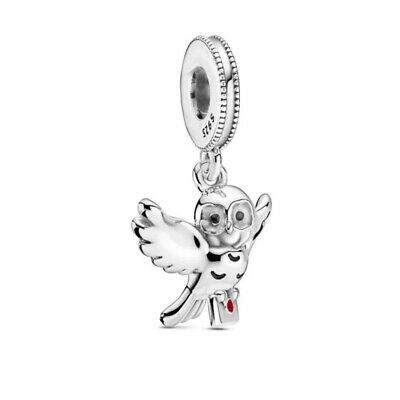 £10.99 • Buy HEDWIG OWL Harry Potter European Charm & Gift Pouch - Sterling Silver S925