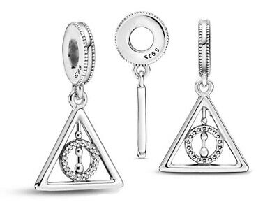 £11.99 • Buy DEATHLY HALLOWS Harry Potter European Charm & Gift Pouch - Sterling Silver S925