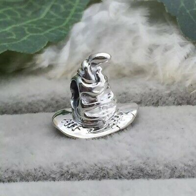 SORTING HAT Harry Potter House European Charm & Gift Pouch- Sterling Silver S925 • 10.50£
