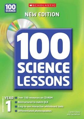 100 Science Lessons For Year 1 With CD-Rom, Wilson, Gay, Creary, Carole, Very Go • 17.99£