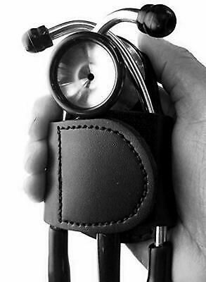 Blingsoul Premium Leather Stethoscope Holder / Case (Black) • 12.10£
