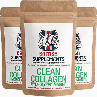 £16.83 • Buy Clean Premium Hydrolysed Collagen Marine Type 1 Fish Skin Not Scales, Low DA, UK