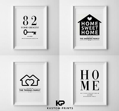 New Home Print Our First Home Personalised House Warming Gift Moving Present • 5.99£