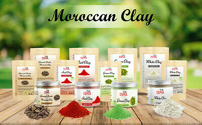 THE ISMA Moroccan Clay Powder For Face, Hair And Body -100% Natural Paraben Free • 6.99£