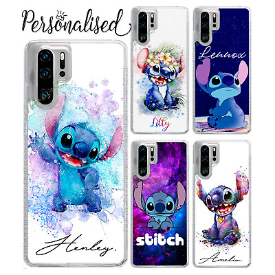 Personalised Lilo & Stitch Name TEXT Case For P30 Lite Pro P Smart Y6 Y7 • 6.99£