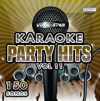 Vocal-star Party Hits 11 Karaoke Cdg Cd+g Disc Set 150 Songs - **new For 2020** • 14.99£
