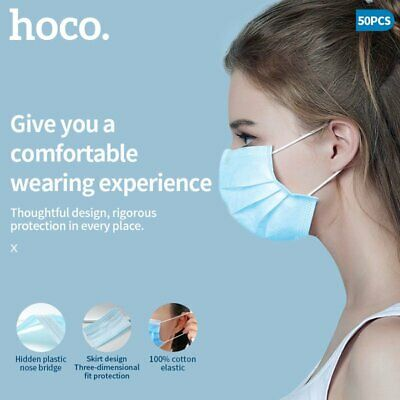 Face Mask Surgical Disposable Blue Face Cover Protection 3Ply Masks High Quality • 29.99£