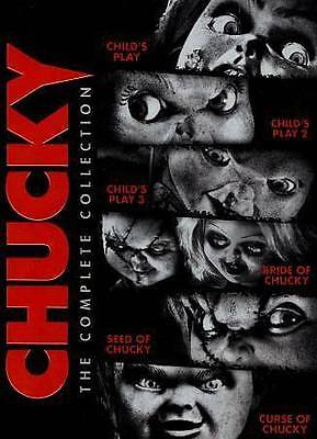 Child's Play 1/2/3/Bride/Seed/Curse Of Chucky (DVD,2013,6-Disc,Widescreen) RARE! • 26.46£