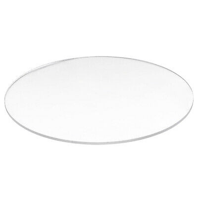 Transparent 3mm Thick Mirror Acrylic Round Disc A2T9 • 2.61£