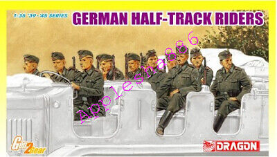 Dragon 6671 1/35  World War II German Army Half-track Crew • 16.50£
