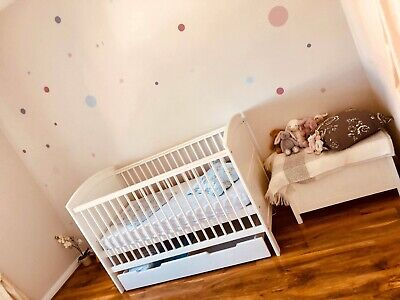 Mamas & Papas Hayworth Cot/bed +Top Changer And Under Bed Storage In VGC RRP£467 • 130£