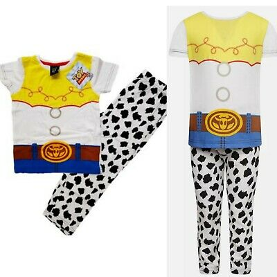 £6.99 • Buy Girls Toy Story Jessie Cowgirl Pajamas PJs Set Short Sleeve Kids Cotton Official