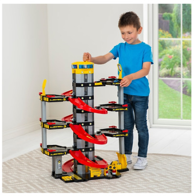 7 Storey Kids Large Toy Car Lift Parking Garage Elevator Children Fun Playset • 55.99£