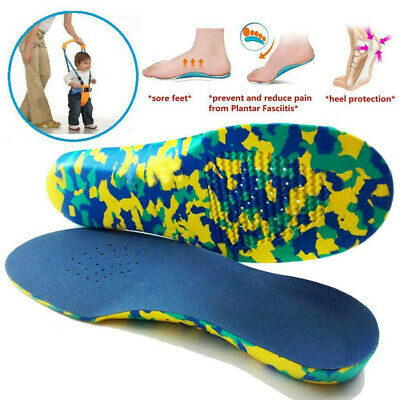 Kids Children Orthotic Shoes Insoles Orthopedic Flat Feet Arch Support S-2XL UK • 2.23£