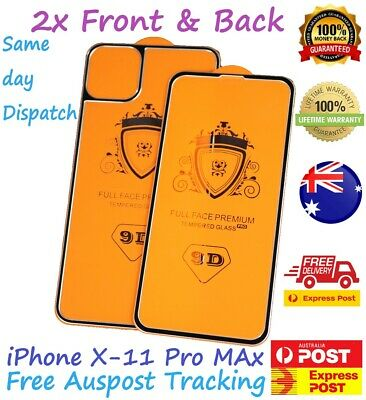 AU5.99 • Buy Front & Back Half Metal/Glass Frame Tempered Glass Screen Protector4 IPhone 11up
