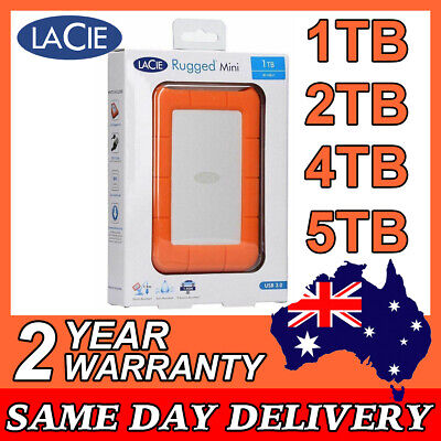 AU252 • Buy LaCie Rugged MINI 2.5  USB 3.0 1TB 2TB 4TB 5TB Portable External Hard Disk Drive