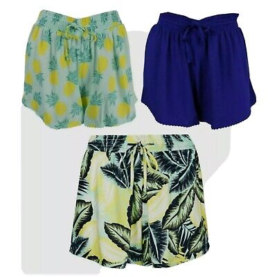 Ex M-S Ladies Summer Beach Shorts 3 Colours To Choose From UK Size 14 Only • 4.50£