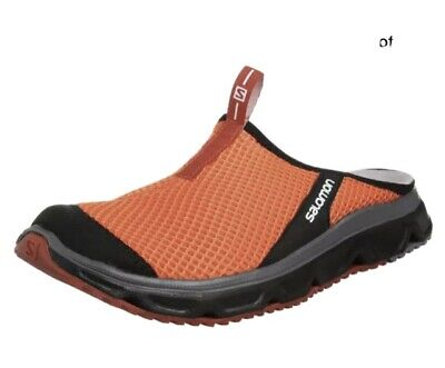 SALOMON Men's Slip Ons Rx Slide 3.0 Slippers Orange Shoes Size UK 8 • 25£