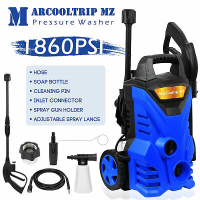£65.99 • Buy Electric Pressure Washer High Power Jet 1860 PSI/128 BAR Water Wash Patio Car