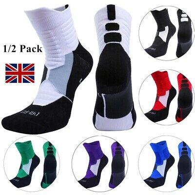 2 Pair Protective Thick Cotton Sports Socks Basketball Athletic Compression Sock • 9.89£