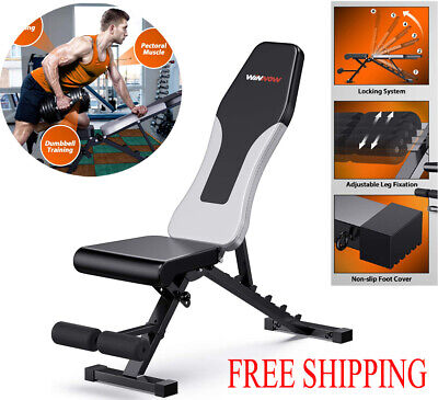 Weight Bench Multi Adjustable Gym Workout Exercise Flat Incline Decline Sit Up • 114.99£