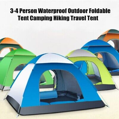 AU47.49 • Buy Large Pop Up Tent Automatic 3-4 Man Person Family Tent Camping Festival Shelter