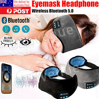 AU16.89 • Buy Wireless Bluetooth 5.0 Stereo Eye Mask Headphones Earphone Sleep Music Mask PB