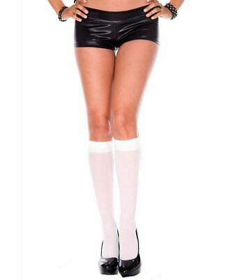 $8.32 • Buy VARIOUS Ladies Sexy Opaque Knee High Stockings Fashion Socks  Adult Fancy Dress
