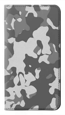 $ CDN34.26 • Buy W2186 Gray Camo Camouflage Graphic Flip Case For IPHONE Samsung ETC