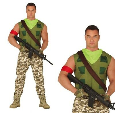 Gamer Costume Fancy Dress Mens Army Cosplay Halloween Christmas Fort Party UK • 19.99£