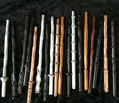 Handmade Wizard Wooden Wands - Hand Carved - Party Favours - Wand - Magic, Witch • 5.50£