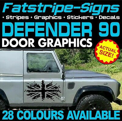 LAND ROVER DEFENDER 90 UNION JACK FLAG GB STICKERS GRAPHICS DECALS 4x4 OFF ROAD • 19.99£
