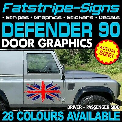 LAND ROVER DEFENDER 90 UNION JACK FLAG GB STICKERS GRAPHICS DECALS 4x4 OFF ROAD • 34.99£