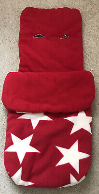 £14.99 • Buy John Lewis Red And White Stars Fleece Pushchair Foot Muff Cosy Toes