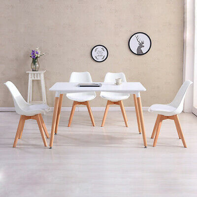 £190 • Buy Scandinavian Dining Table Set With 4 Style Jamie Tulip Dining Chairs