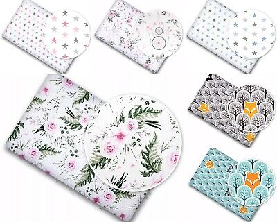 BABY NURSERY BED FITTED COT SHEET 100% COTTON PRINTED DESIGN FOR CRIB 90x40cm • 5.99£