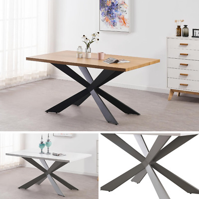AU752.99 • Buy White Modern Dining Table In White Or Oak Dining Table 4 Or 6 Seater Wood Effect
