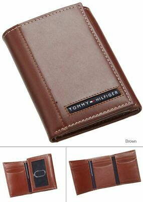 New Tommy Hilfiger Cambridge Men's TAN Leather Trifold Wallet 5676/02   GRADE A • 29.99£