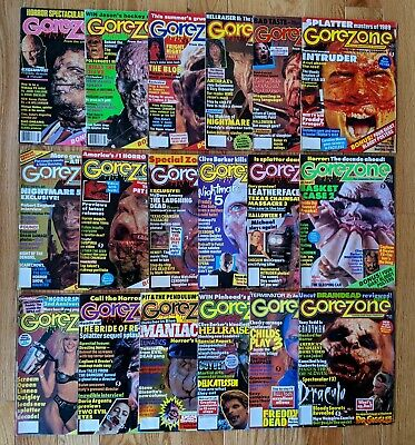 $199.99 • Buy Lot Of 18 GoreZone Magazine 80's & 90's Vintage Horror - Posters Included