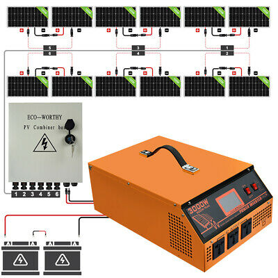 £1708.29 • Buy 600W 800W 1200W Solar Panel Kit 3KW 24V All-In-One Controller&Inverter Shed Farm