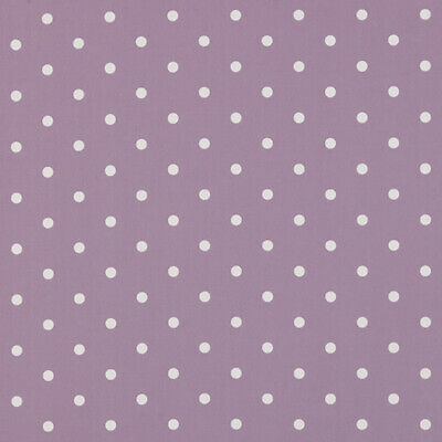Clarke And Clarke Cotton WIPE CLEAN Tablecloth Oilcloth  DOTTY MAUVE  Polka Dot • 13.99£
