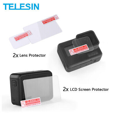 $ CDN8.97 • Buy TEELSIN 2pc Screen Lens Tempered Glass Protector Film For GoPro Hero 5 6 7 Black