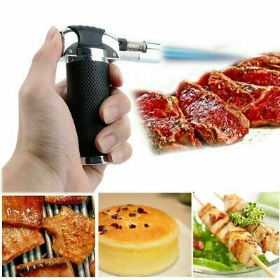 Adjustable Refilable Torch Flame Kitchen Chef Cook Food Light Fire BBQ WINDPROOF • 7.49£