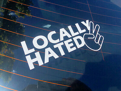AU5.98 • Buy LOCALLY HATED Car Sticker Jdm Turbo Window Drift Subaru 86 Ford Nissan Commodore