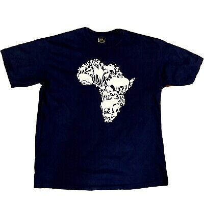 £13.16 • Buy Africa T-Shirt XL Blue Made In South Africa Gearzone