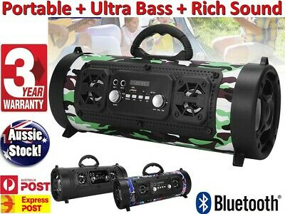AU39.75 • Buy LOUD & PORTABLE Wireless Bluetooth Speakers Stereo Bass Radio Outdoor Subwoofer