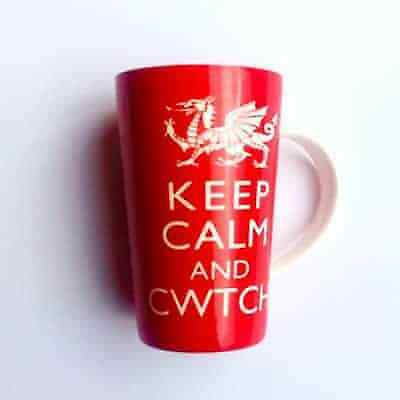 £8.75 • Buy Cwtch Mug Latte Style Welsh Dragon Wales Gifts