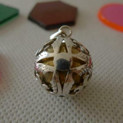 Harmony Ball/Mexican Bola Sterling Silver Pendant 18mm SilverandSoul Jewellery • 29£